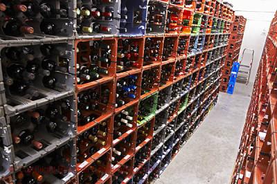 Wine storage at competition Les Citadelles du Vin, Bordeaux